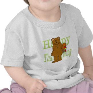 Acción de gracias Turquía que oculta detrás de oso Camiseta