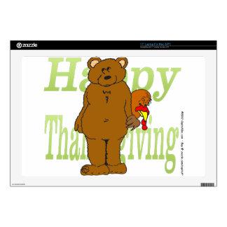 Acción de gracias Turquía que oculta detrás de oso Portátil Skins