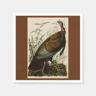 Acción de gracias Turquía salvaje Juan Audubon Servilleta De Papel