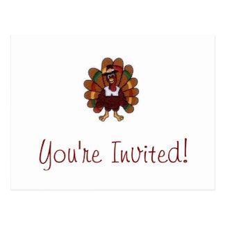 Acción de gracias Turquía usted es postal invitada