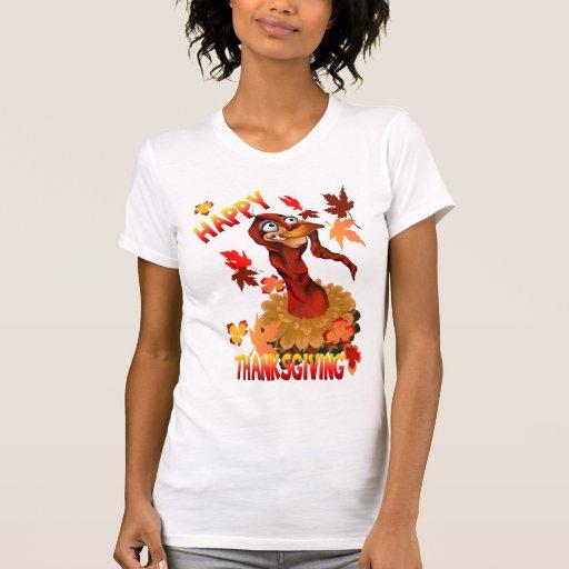 Acción de gracias Turquía y camisetas de las hojas Playera