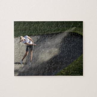 Acción de la arcón del golf puzzle con fotos