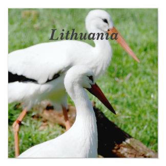 Acción de Lituania Invitación 13,3 Cm X 13,3cm