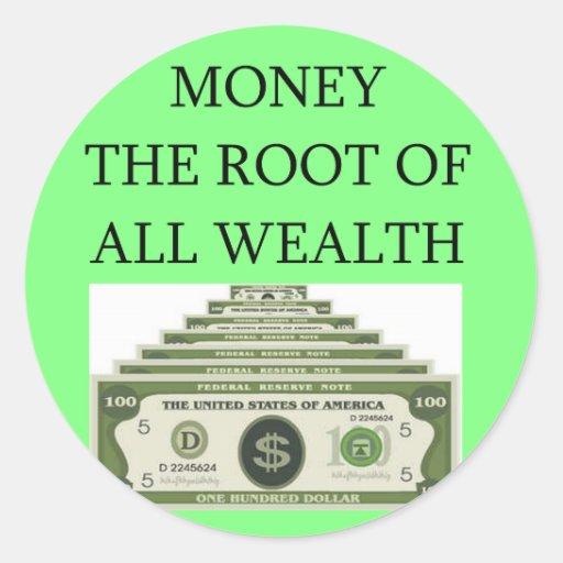 acción de Wall Street, inversor del mercado Etiquetas Redondas