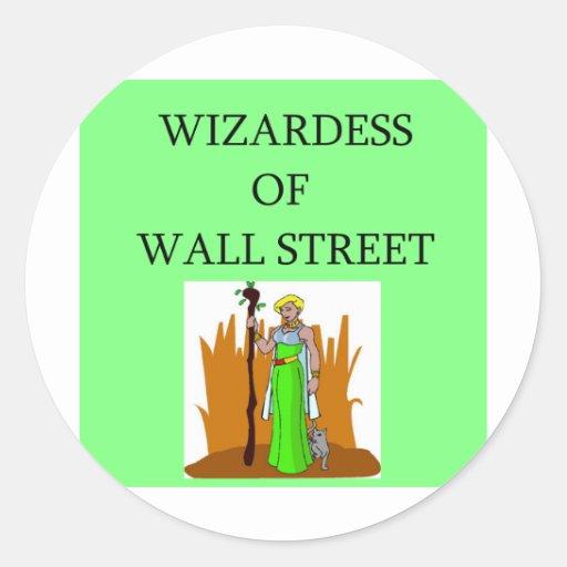 acción de Wall Street, inversor del mercado Pegatinas Redondas