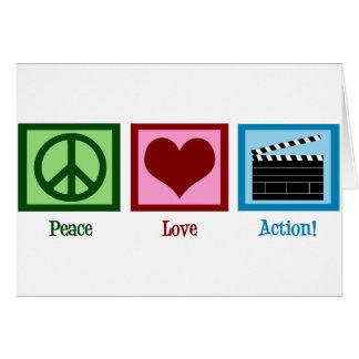 ¡Acción del amor de la paz! Tarjeta De Felicitación
