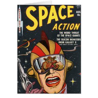 Acción del espacio tarjeta de felicitación