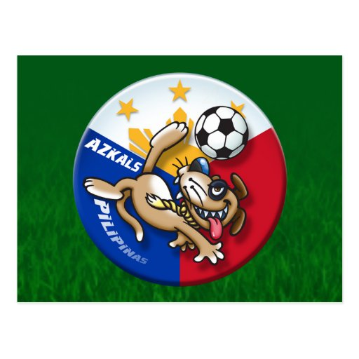 Acción del fútbol del fútbol de Azkals Tarjetas Postales