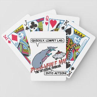 Acción del hombre de la ballena de esperma baraja de cartas bicycle