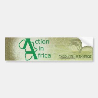 Acción en la pegatina para el parachoques de Áfric Pegatina Para Auto
