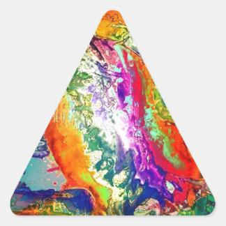 Acción, extracto pegatina triangular