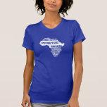 Acción global Rwanda en colores múltiples Tshirts