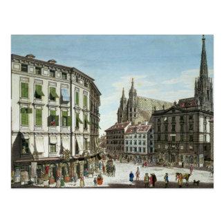 Acción-im-Eisen-Platz, con St. Stephan Tarjeta Postal