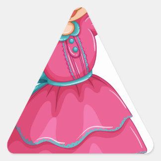 Acción Pegatina Triangular