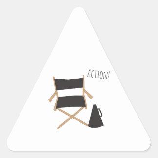 ¡Acción! Pegatina Triangular