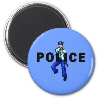 Acción policial iman para frigorífico