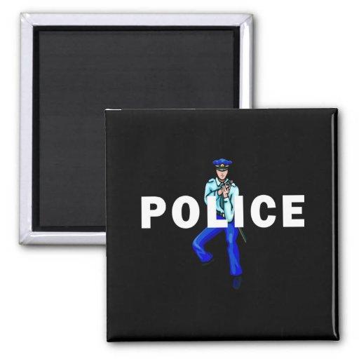 Acción policial imán de nevera