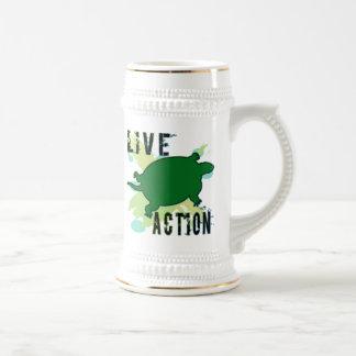 Acción viva taza de café
