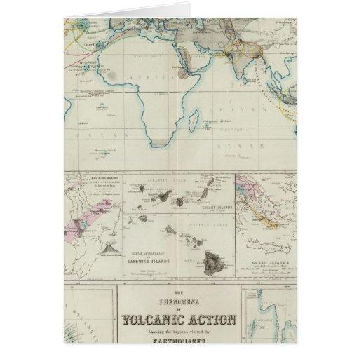 Acción volcánica tarjeta de felicitación