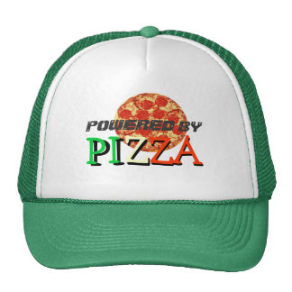 Accionado por cita divertida de la pizza gorro de camionero