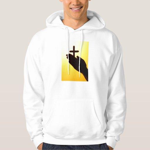 Accionado por el camisetas encapuchado del rezo jersey con capucha