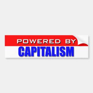 Accionado por el capitalismo pegatina para auto