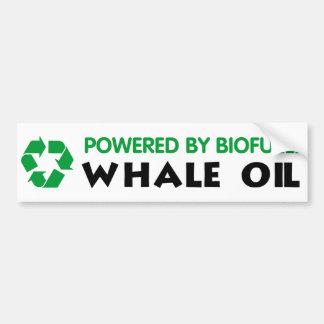 Accionado por el combustible biológico: Aceite de  Pegatina Para Auto