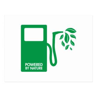 Accionado por el combustible biológico de la natur postales