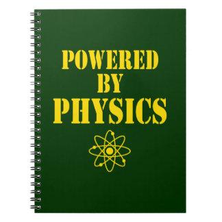 Accionado por el cuaderno de la física