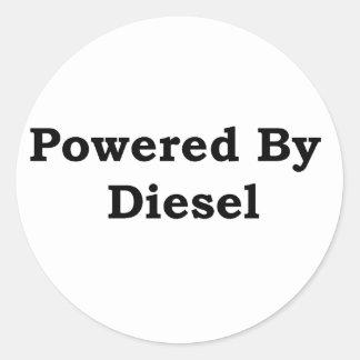 Accionado por el diesel pegatina redonda