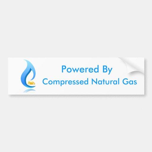 Accionado por el gas natural comprimido pegatina de parachoque