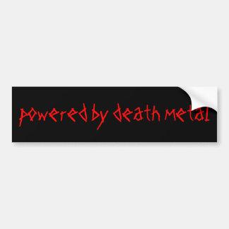 accionado por el metal de la muerte pegatina de parachoque