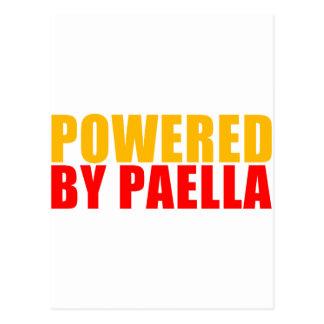 Accionado por el Paella Tarjeta Postal