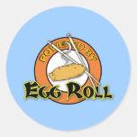 Accionado por el rollo de huevo etiqueta redonda