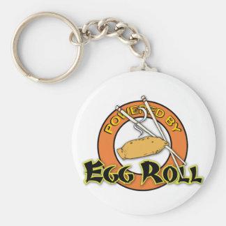 Accionado por el rollo de huevo llavero personalizado