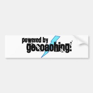 Accionado por Geocaching Etiqueta De Parachoque