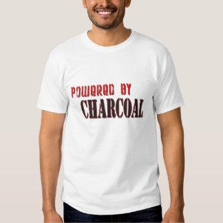 Accionado por la camiseta del carbón de leña playeras