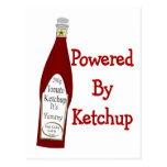 Accionado por la salsa de tomate tarjeta postal