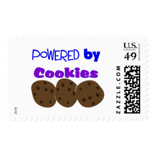 """""""Accionado por las galletas""""---camiseta divertida Timbres Postales"""