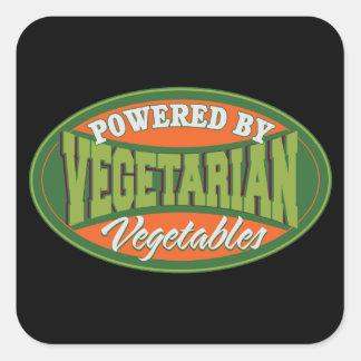 Accionado por las verduras pegatina cuadrada