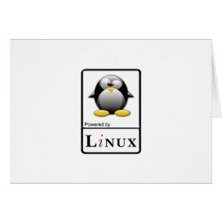 Accionado por Linux Tarjeta De Felicitación
