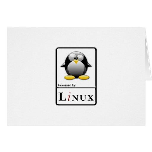 Accionado por Linux Tarjetón