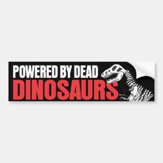 Accionado por los dinosaurios muertos pegatina para auto