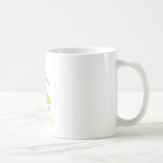 Accionado por los plátanos taza de café