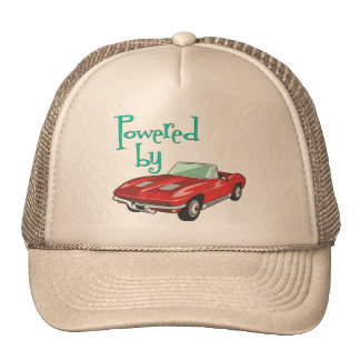 Accionado por un convertible rojo gorras de camionero
