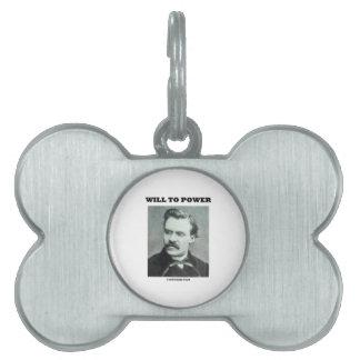 Accionará (Friedrich Nietzsche) Placas De Nombre De Mascota
