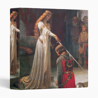 Accolade by Edmund Blair Leighton 3 Ring Binder