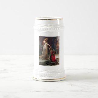 Accolade by Edmund Blair Leighton 18 Oz Beer Stein