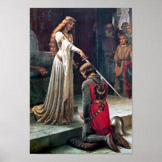Accolade by Edmund Blair Leighton Poster