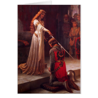 Accolade - Edmund Blair Leighton (1901) Card